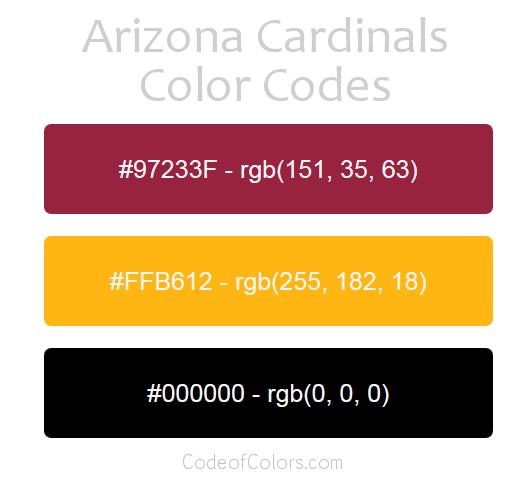 Atlanta Falcons Colors Red >> Arizona Cardinals Colors - Hex and RGB Color Codes