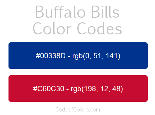 Buffalo Bills Colors - Hex and RGB Color Codes 5a372c242