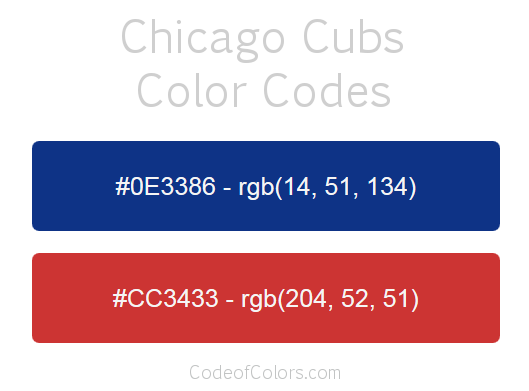 Cubs Colors 28 Images Chicago Cubs 2 Color Decal C