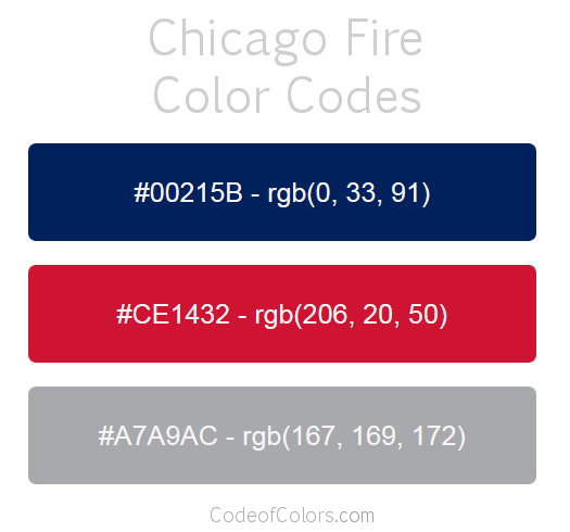 Chicago Fire Team Color Codes