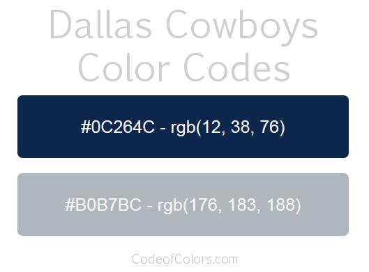 Dallas Cowboys Colors Hex And Rgb Color Codes