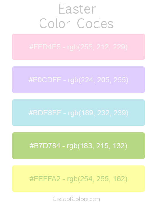 Easter Color Palette and Scheme