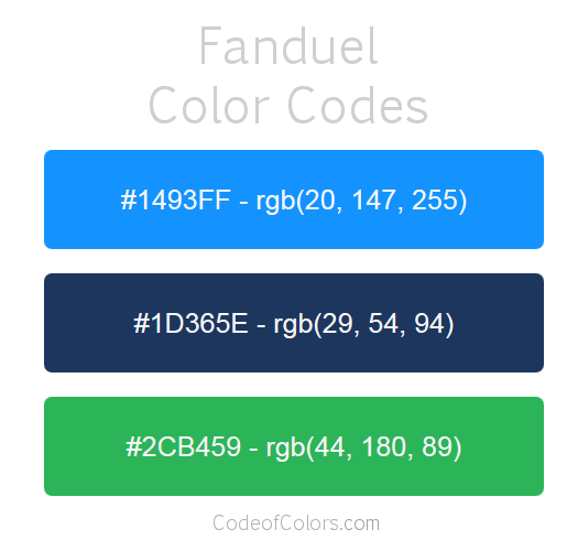Fanduel Logo and Website Color Codes