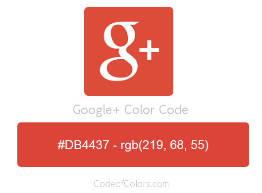 Google+ Logo and Website Color Codes