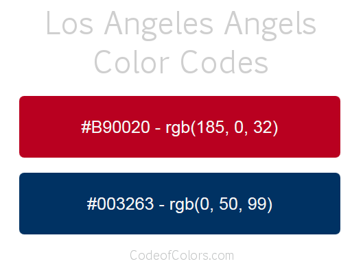 los angeles angels colors hex and rgb color codes
