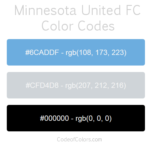 Minnesota United Team Color Codes