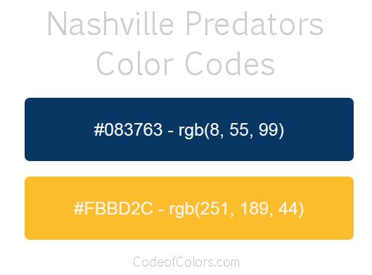 Nashville Predators Colors Hex And Rgb Color Codes