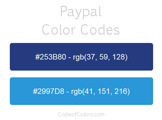 Paypal Logo and Website Color Codes
