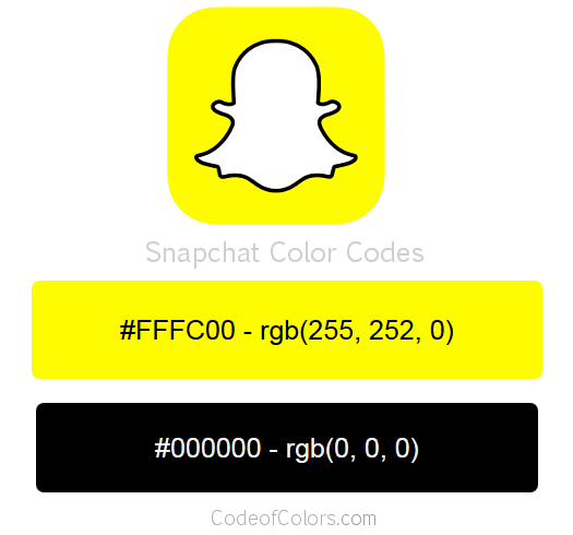 Snapchat Logo and Website Color Codes