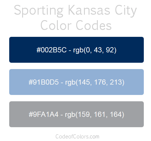 Sporting Kansas City Team Color Codes