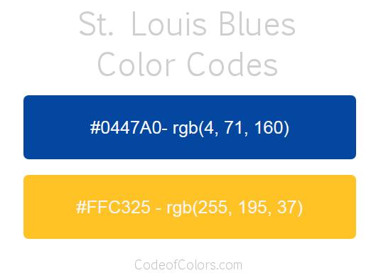 St Louis Blues Colors Hex And Rgb Color Codes