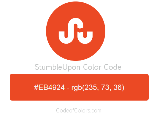 StumbleUpon Logo and Website Color Codes