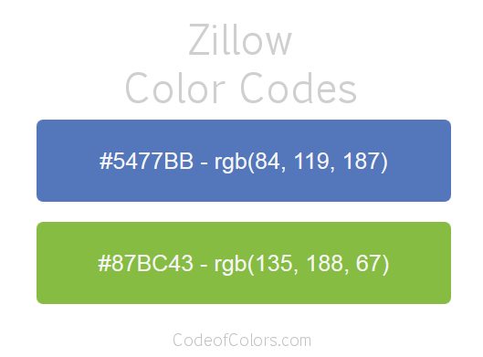 Zillow Logo and Website Color Codes